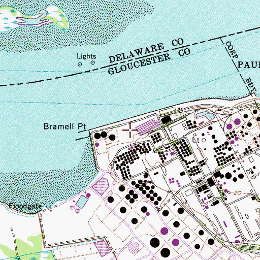 Topographic Map of Paulsboro Refinery, NJ
