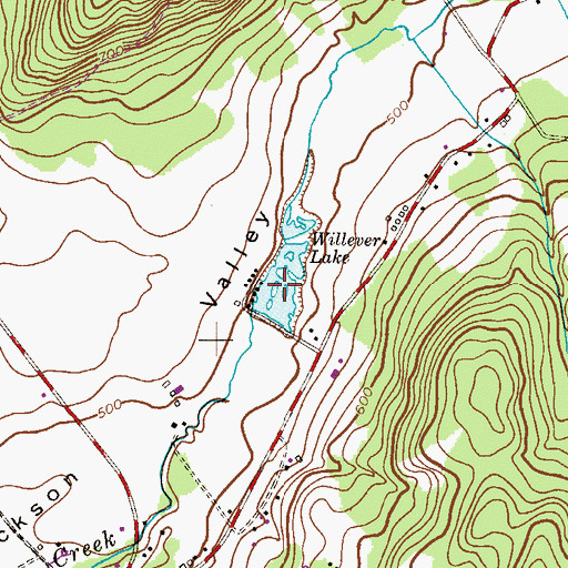 Topographic Map of Willever Lake, NJ