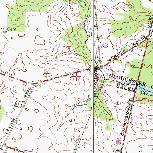 Topographic Map of Steward (historical), NJ