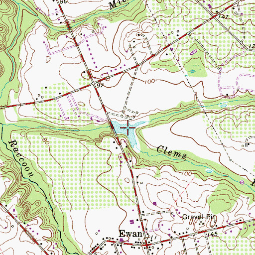 Topographic Map of Kincaid Lake, NJ