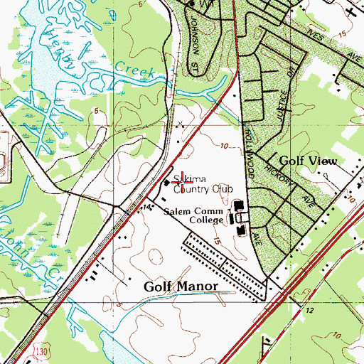 Topographic Map of Sakima Country Club, NJ