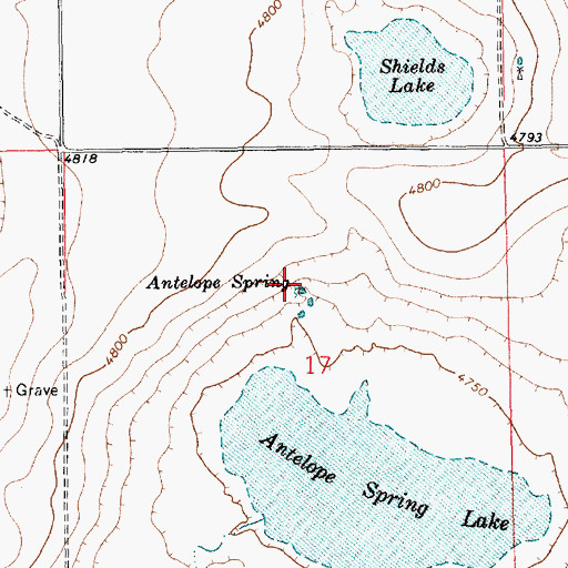 Topographic Map of Antelope Spring, NM
