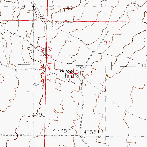 Topographic Map of Barbee Tank, NM