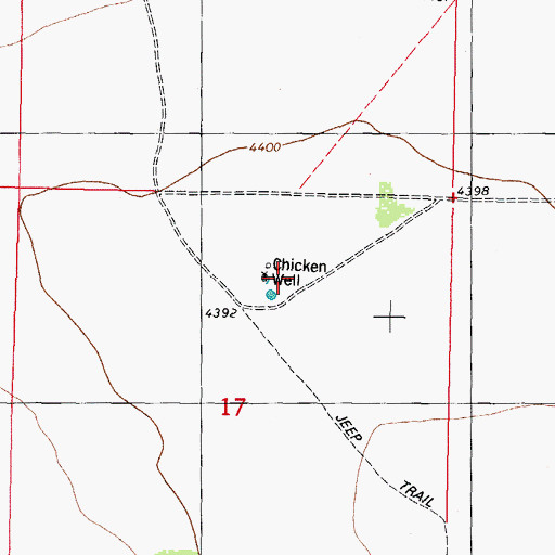 Topographic Map of Chicken Well, NM