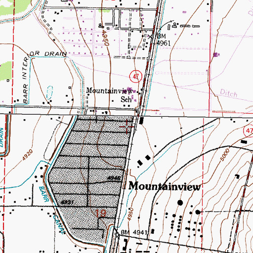Topographic Map of Mountainview Mission, NM