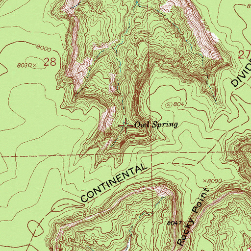 Topographic Map of Owl Spring, NM