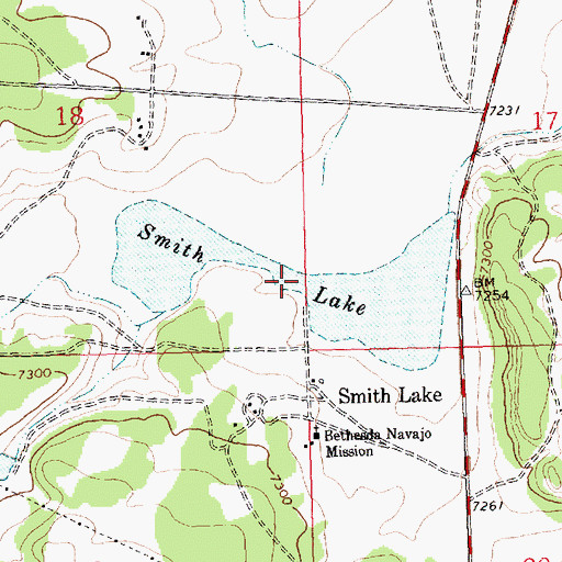 Topographic Map of Smith Lake, NM