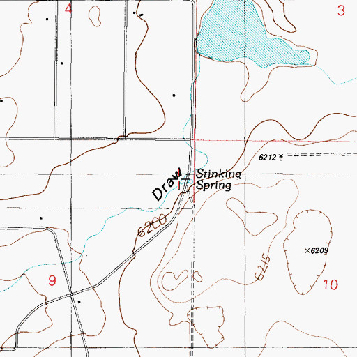 Topographic Map of Stinking Spring, NM