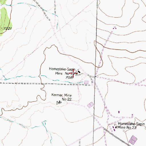 Topographic Map of Homestake-Sapin Mine Number 15, NM