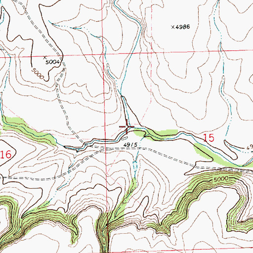 Topographic Map of Alamos Creek, NM