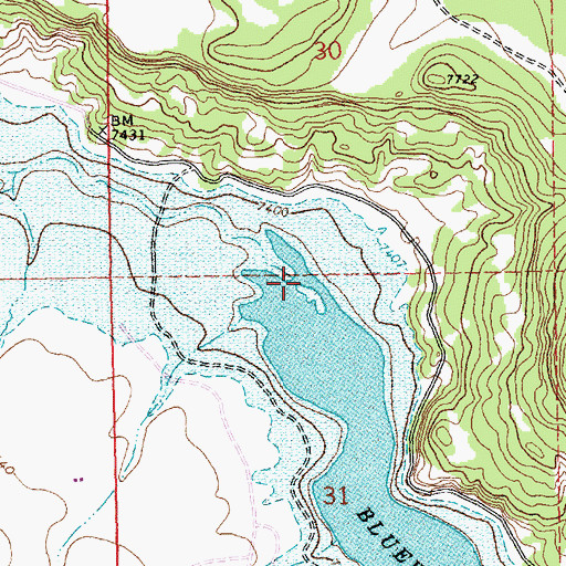 Topographic Map of Cottonwood Creek, NM