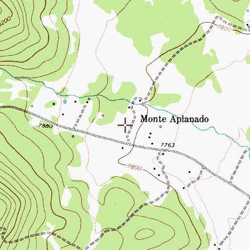 Topographic Map of Monte Aplanado, NM