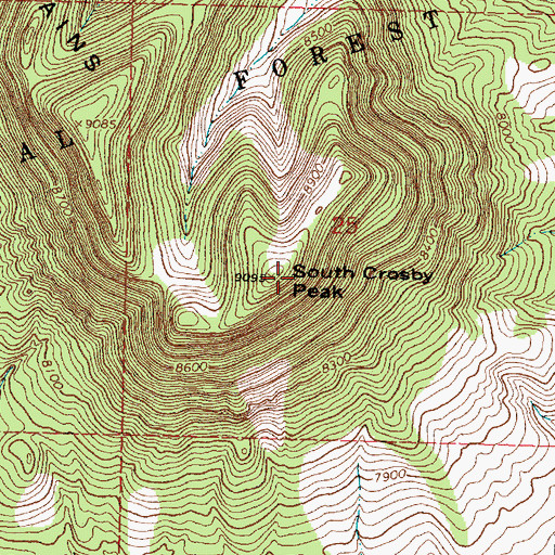 Topographic Map of South Crosby Peak, NM