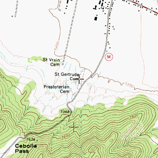 Topographic Map of Santa Gertrudis (historical), NM