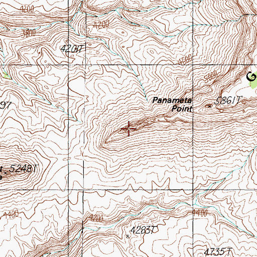 Topographic Map of Panameta Point, AZ