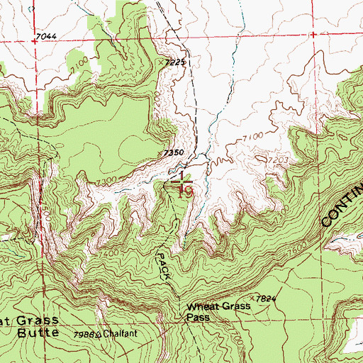 Topographic Map of Tiejen Prospect, NM
