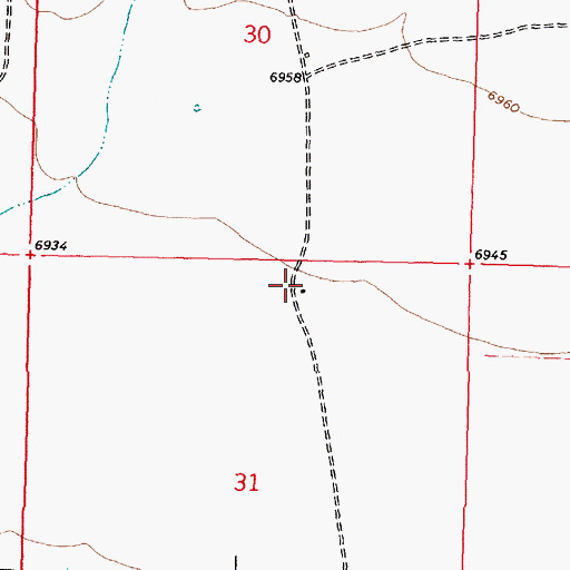 Topographic Map of Cloud Place Water Well, NM