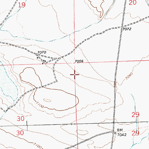 Topographic Map of 16T588 Water Well, NM