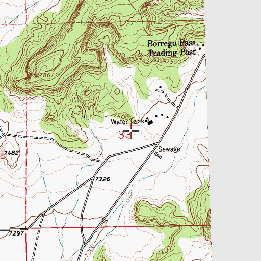 Topographic Map of 10018 Water Well, NM