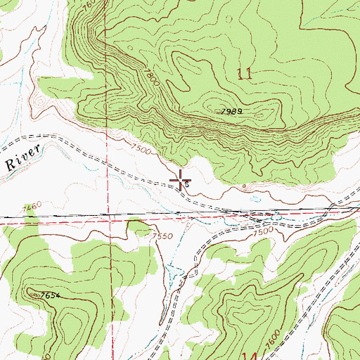Topographic Map of 16K-332 Water Well, NM