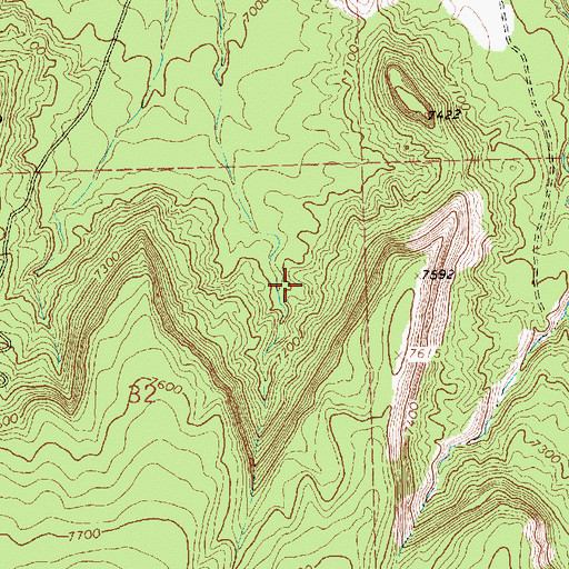Topographic Map of 320 Water Well, NM