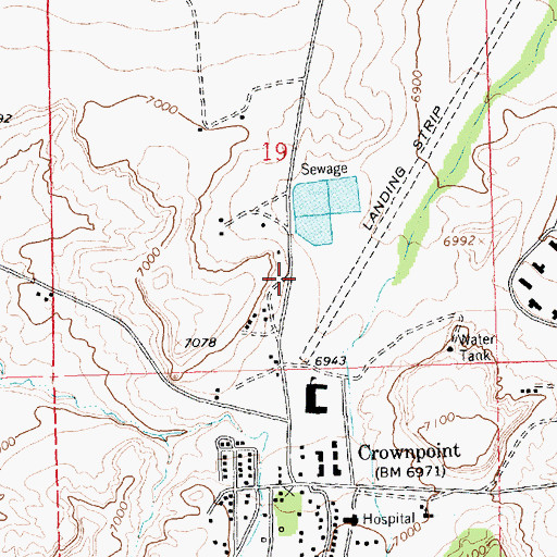 Topographic Map of NTUA 1 Water Well, NM