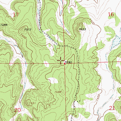 Topographic Map of 16T-558 Water Well, NM