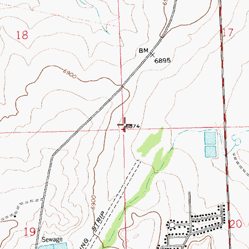Topographic Map of Crownpoint-Con Water Well, NM