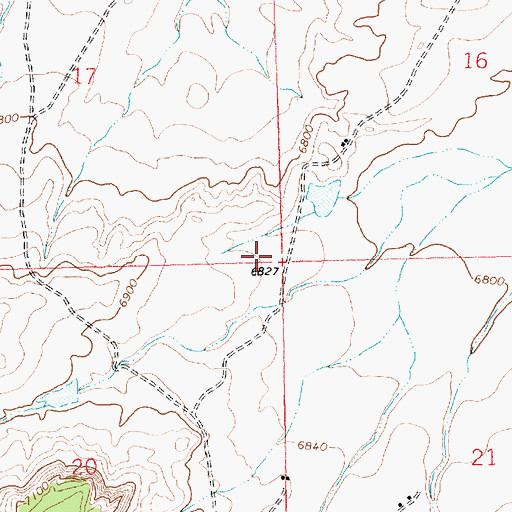 Topographic Map of Begay Water Well, NM