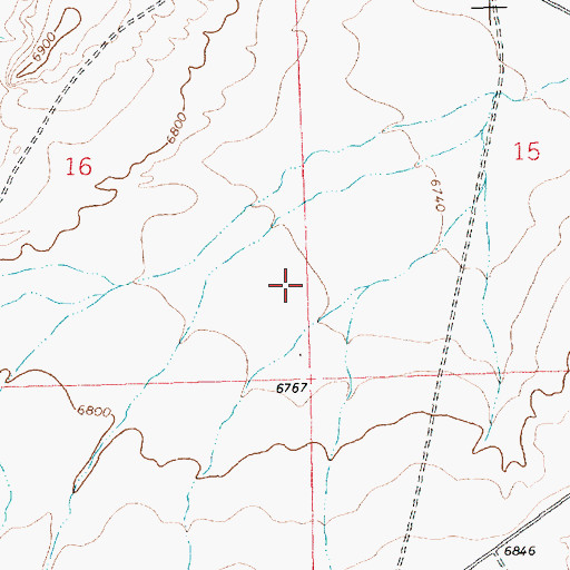 Topographic Map of SJ-1361 Water Well, NM