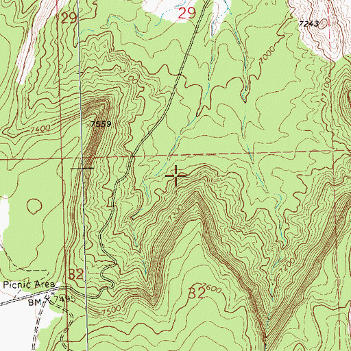 Topographic Map of SJ-936 Water Well, NM