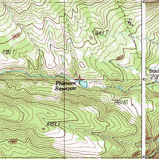 Topographic Map of Urraca Dam, NM