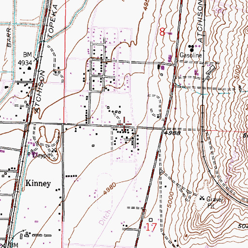 Topographic Map of Cathleen Groves Memorial Childrens Library, NM