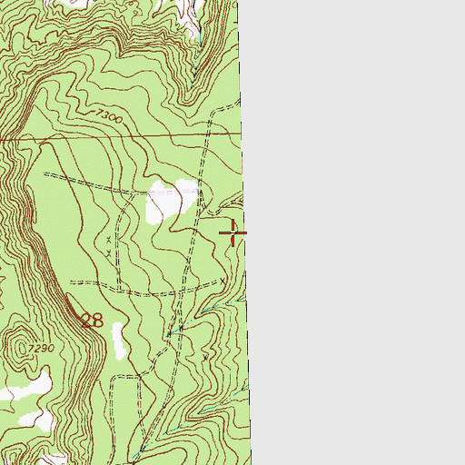 Topographic Map of Glenn and Edith Mine, NM
