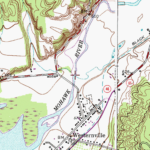 Topographic Map of Deans Gulf, NY