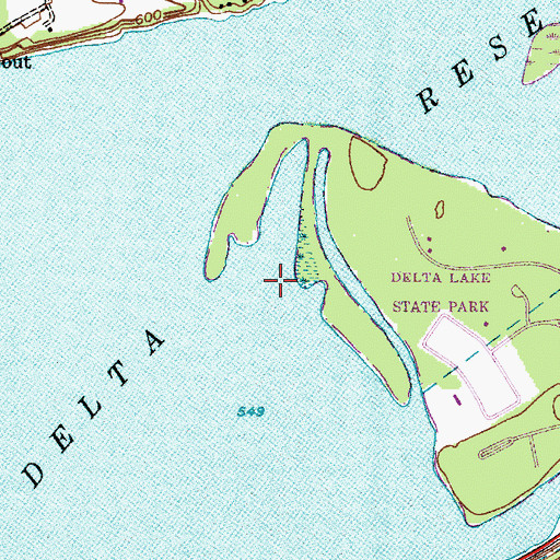 Topographic Map of Delta Reservoir, NY