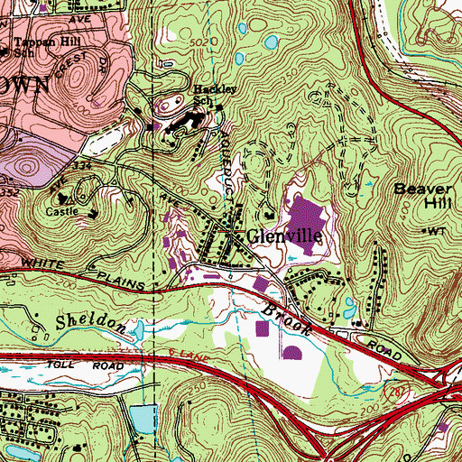 Topographic Map of Glenville, NY