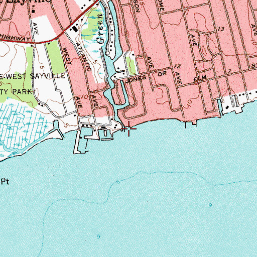 Topographic Map of Green Creek, NY