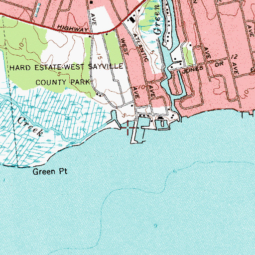 Topographic Map of Indian Creek, NY