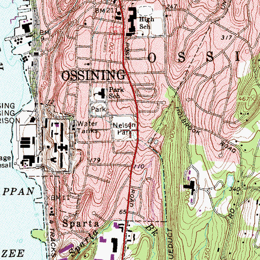 Topographic Map of Nelson Park, NY