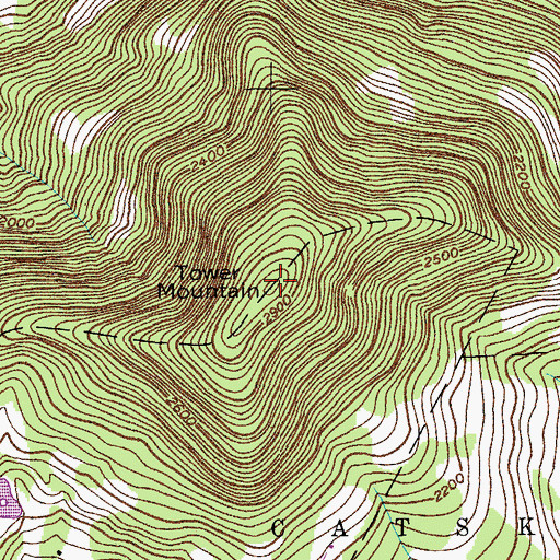 Topographic Map of Tower Mountain, NY