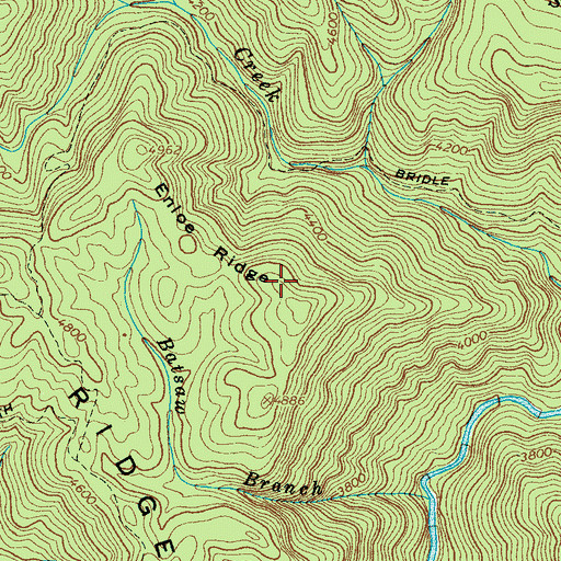 Topographic Map of Enloe Ridge, NC
