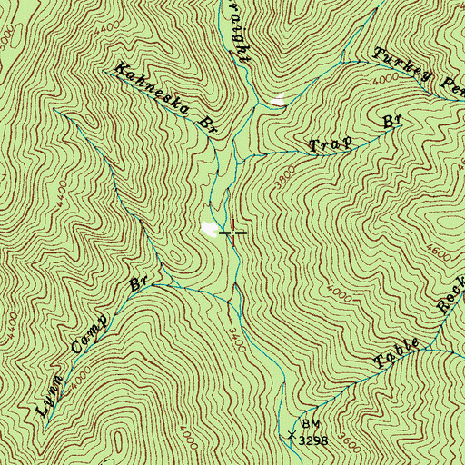 Topographic Map of Kahneska Branch, NC