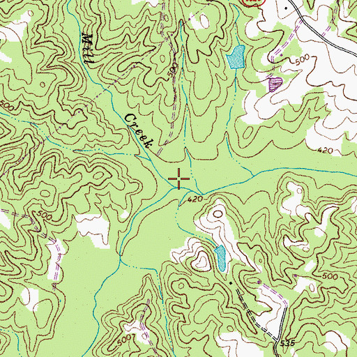 Topographic Map of Little Mill Creek, NC