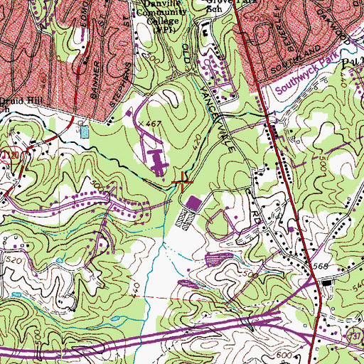 Topographic Map of Rutledge Creek, NC