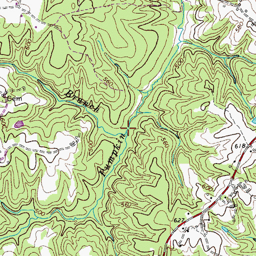 Topographic Map of Whalebone Branch, NC