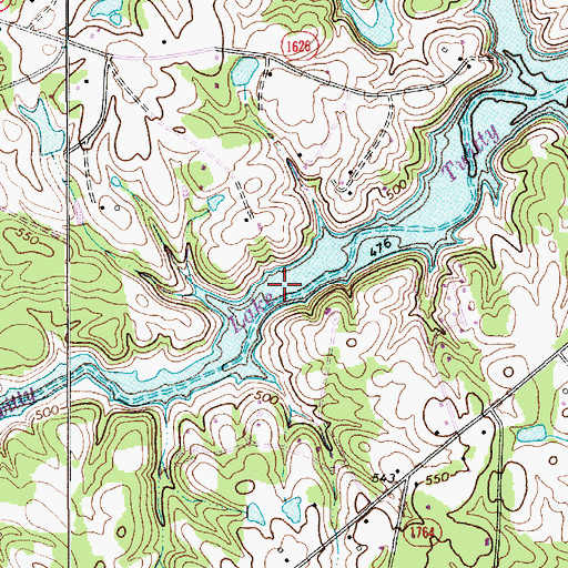 Topographic Map of Lake Twitty, NC